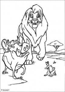 А4 лев раскраски про король