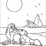 А4 мальчиков король лев раскраски для