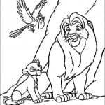 А4 онлайн король лев раскраски