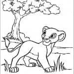 А4 про король лев раскраски