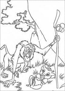 А4 раскраски для девочек король лев