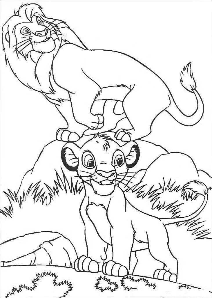 А4 раскраски для мальчиков король лев