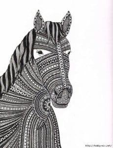 детей онлайн раскраска лошадь для