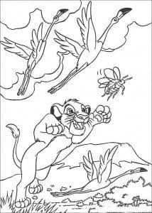 А4 раскраски животные распечатать из диснея король лев