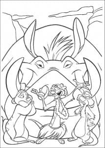 А4 животные распечатать из диснея король лев раскраски