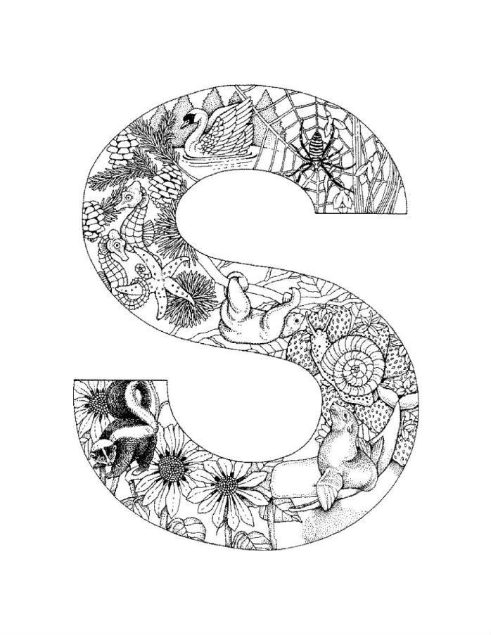 английский алфавит раскраски большие буквы рисовака