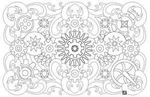 антистресс красивые узоры раскраски