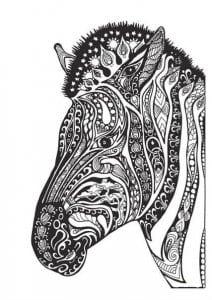 детей распечатать лошадь раскраска для