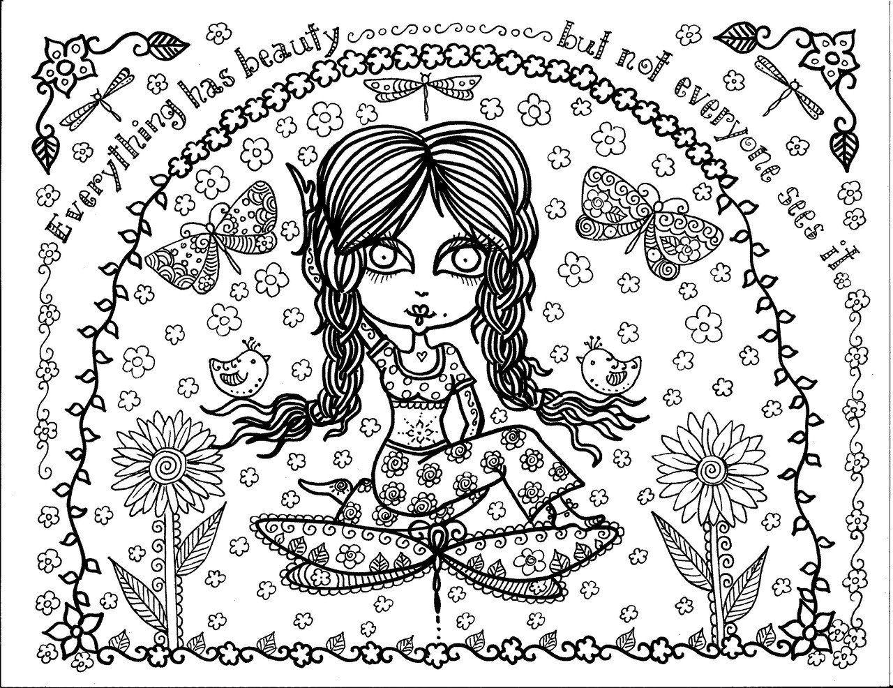 арт йога раскраска антистресс распечатать (5) - Рисовака