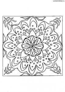 арт терапия раскраски антистресс распечатать мандалы