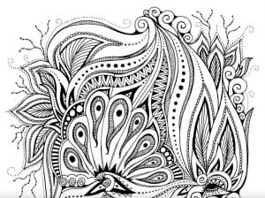 арт терапия раскраски узоры