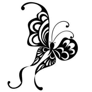 бабочка детей 3 лет раскраска
