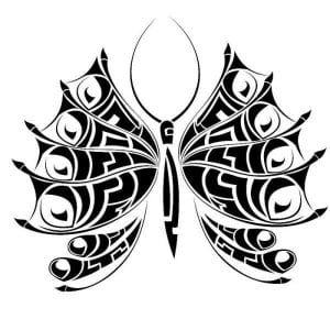 бабочка для детей 5 лет раскраска