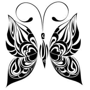бабочка для малышей раскраска