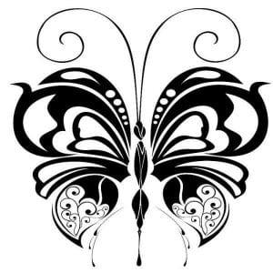 бабочка картинка раскраска для детей
