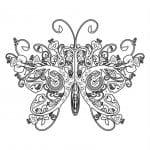 бабочка раскраска маленькая
