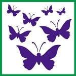 бабочка рисунок раскраска