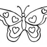бабочки раскраски детей 3 4