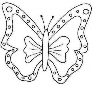 бабочки раскраски для девочек