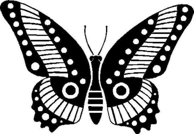 бабочки распечатать раскраска антистресс