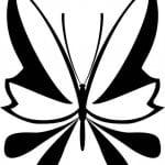 бабочки распечатать раскраски цветы и