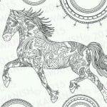 детские раскраски лошади