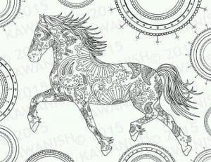 begushhaja-loshad-raskraska-300x231 Лошади и единороги