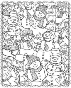бесплатно 2017 распечатать раскраски на новый год А4