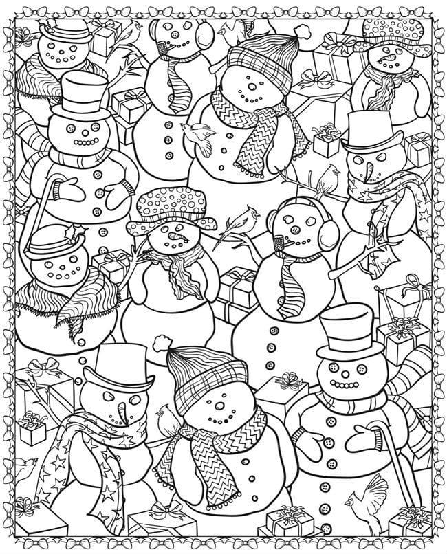 бесплатно 2017 распечатать раскраски на новый год