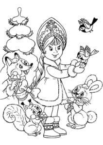 бесплатно 4 5 лет новый год раскраски детям А4