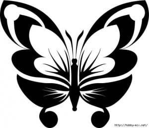 бесплатно 4 бабочки раскраски детей 3