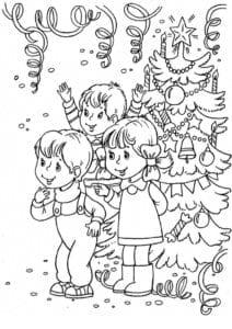бесплатно 5 лет новый год раскраски детям 4 А4