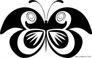 бесплатно 5 лет раскраска бабочка для детей