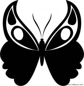 бесплатно а4 раскраска бабочка распечатать