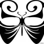 бесплатно а4 раскраски бабочки  формат