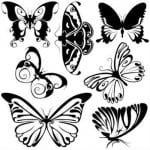 бесплатно антистресс бабочки распечатать раскраска