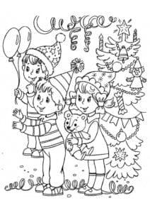 бесплатно антистресс новый год раскраски А4