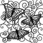 бесплатно бабочек онлайн раскраски про