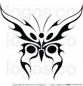 бесплатно бабочка большие раскраска