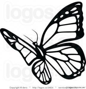 бесплатно бабочка для малышей раскраска