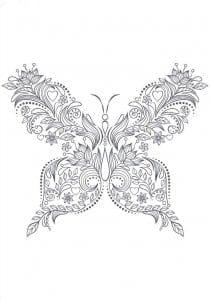 бесплатно бабочки черно белые распечатать картинки раскраски