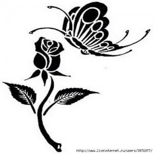 бесплатно бабочки картинки раскраски цветы и