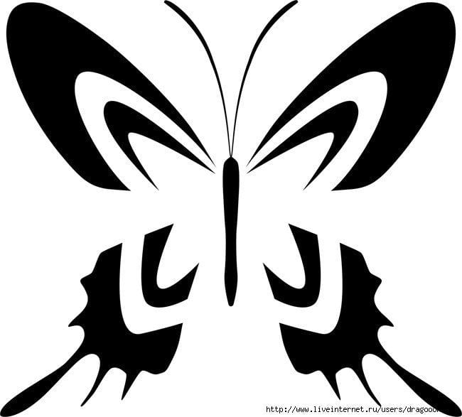 бесплатно бабочки картинки раскраски распечатать