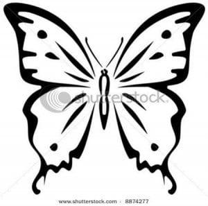 бесплатно бабочки крупные раскраски