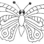 бесплатно бабочки раскраски детей 3 4