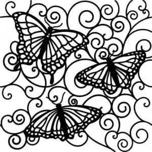 бесплатно бабочки распечатать  раскраски для девочек