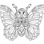 бесплатно бабочки распечатать раскраски цветы и