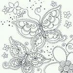 бесплатно декора бабочки раскраски