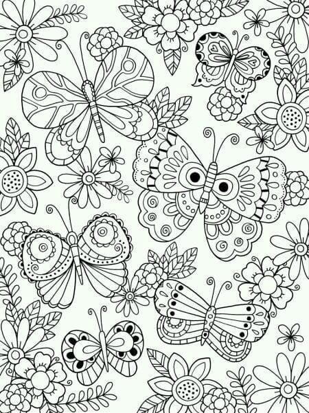 бесплатно декоративные бабочки раскраски