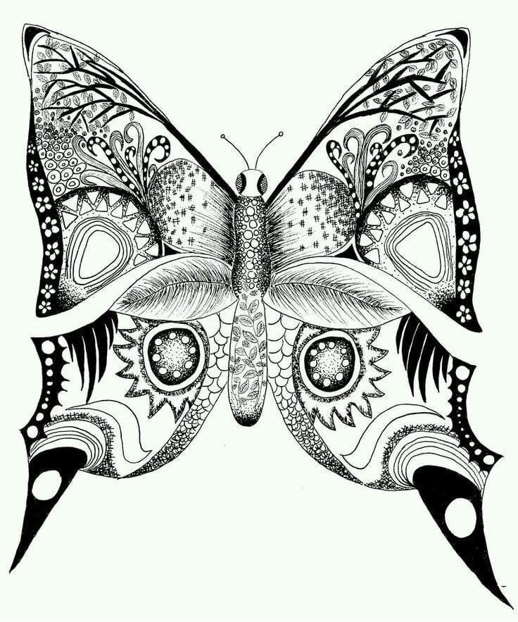 бесплатно детей бабочка картинка раскраска для - Рисовака
